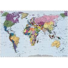 Us World Map by Komar World Map Wall Mural Walmart Com