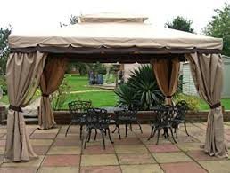 luxury granborough garden gazebo 3 6 x 3m with privacy curtains