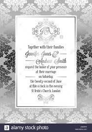 Silver Wedding Invitation Cards Vintage Baroque Style Wedding Invitation Card Template Elegant