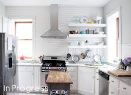 kitchen sheved chunky diy floating kitchen shelves