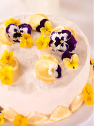 photo cake lemon blueberry cake vintage