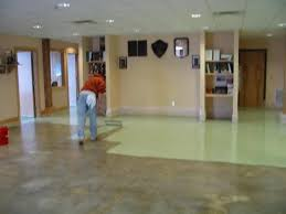 floor staining construction project