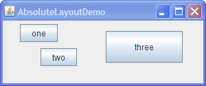 java null layout manager swing doing without a layout manager absolute positioning the java