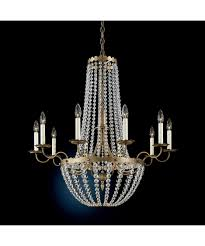 schonbek 5148 early american 33 inch wide 10 light chandelier