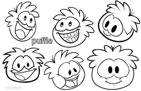 printable puffle coloring pages kids cool2bkids