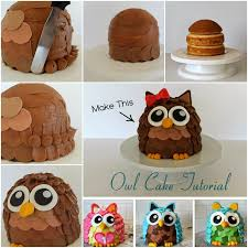 cake diy how to make owl cake