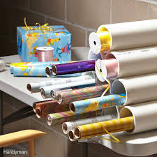 wrap n roll christmas light storage handy diy gift wrap ideas family handyman