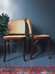 Bergere Dining Chairs Pair Of Joseph Hoffmann U0027prague U0027 Bentwood U0026 Bergere Cane Dining