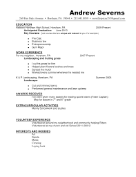 Resume Extracurricular Activities Sample by Wonderful Sample Resume For Lawn Care Worker 31 For Modern Resume