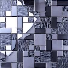 Wholesale Metallic Backsplash Tiles Silver  Stainless Steel Sheet M - Silver backsplash