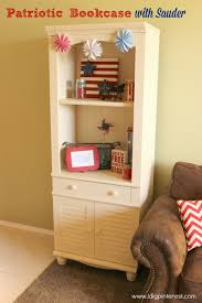 sauder library bookcase patriotic bookcase with sauder i dig pinterest