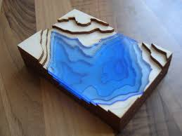 topography coffee table minecraft inspired coffee table kitronik