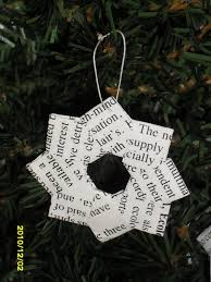 book page wreath ornament xmas community service project tween