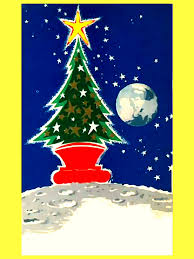 retro russian classic space christmas card from the 1960s to