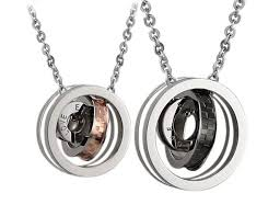 Mens Engraved Necklaces Amazon Com His And Hers Matching Necklace Pendant Set Eternal