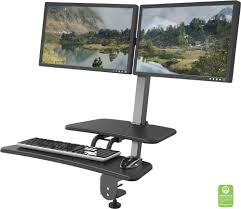 Sit And Stand Computer Desk by Desk Mounted Sit Stand Workstation Dual Monitor