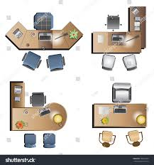 Office Chair Top View Furniture Top View Vector