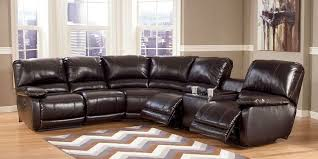 Sectional Recliner Sofa With Cup Holders Sectional With Cup Holders 2018 Brown Leather Sectional