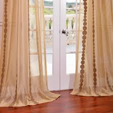 Embroidered Curtain Panels Curtains Sheer Curtains One Panel Country Embroidered Beige