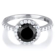 plus size engagement rings carrie s cut black cz ring with halo