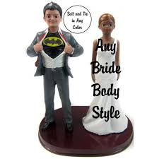 batman wedding cake toppers custom batman and groom wedding cake toppers