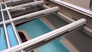 glasscon gmbh retractable telescopic pool enclosure with safety