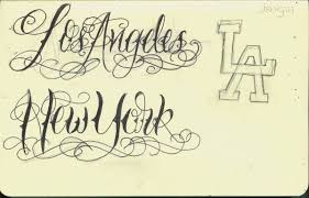 la and ny lettering by 12kathylees12 on deviantart