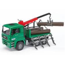 bruder toys bruder toys man forestry timber truck vehicle w loading crane and