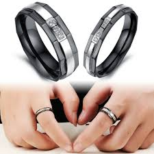 promise ring for men stainless steel wedding bands rings korean jewelry