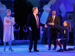 stabbed to in central park performance of julius caesar