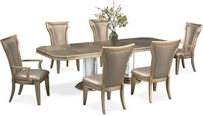 double pedestal table two arm chairs and 4 side chairs