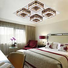 lumiere pour chambre encastré moderne led le en cristal de plafond avec 4 lumières