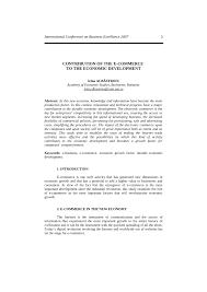 contribution of the e commerce to the economic development