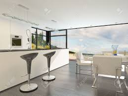 Kitchen Design With Bar Counter Modern Open Plan Kitchen With A Bar Counter With Stylish