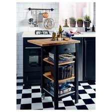 stenstorp kitchen trolley black brown oak 45x43x90 cm ikea