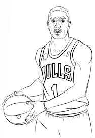 lakers coloring pages derrick rose the famous red bulls and nba athletes basketball