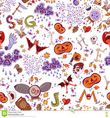 halloween seamless background halloween seamless bright kids doodle pattern the day of the dead
