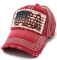 Blue White Red White Blue Flag American Vintage Red White U0026 Blue Flag Patch Baseball Cap W