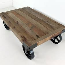 Rustic Coffee Table With Wheels Industrial Coffee Table With Wheels Wheeled Coffee Table Cason