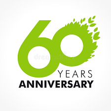 celebrating 60 years birthday 60 years celebrating green stock vector illustration of
