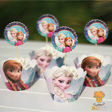 24pcs kids princess anna elsa birthday party decoration baby