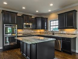 painted and stained kitchen cabinets dark stained kitchen cabinets image of design 800x600 sinulog us