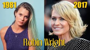 robin wright from 15 to 51 years through the years