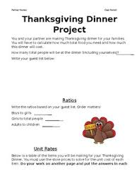thanksgiving dinner proportions project by abby green tpt