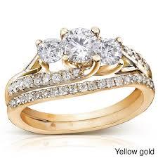 Inexpensive Wedding Rings by Princess Cut Diamond Engagement Ring And Wedding Band Set Carat