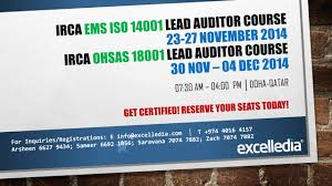 lead auditor courses certification training qatar excelledia