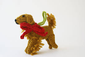 golden retriever ornament chilly sweaters