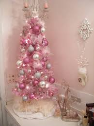 25 bathroom christmas decoration ideas small pink and white christmas tree