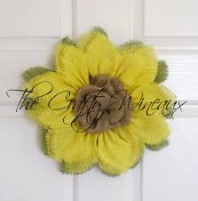 burlap sunflower wreath small yellow burlap sunflower wreath with center the