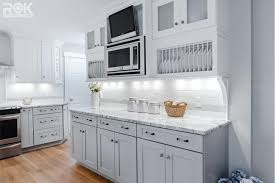 gray shaker rta all wood kitchen and bathroom cabinets rok hardware
